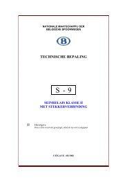 TECHNISCHE BEPALING - Infrabel