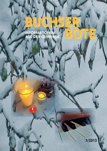Ausgabe_5_2013 [PDF, 4.00 MB] - Gemeinde Buchs