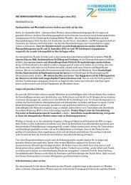 Pressemitteilung - Berliner Altersstudie (BASE)
