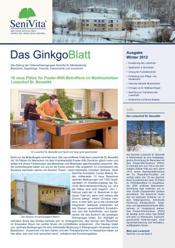 Das GinkgoBlatt - Ausgabe Winter 2011 - SeniVita