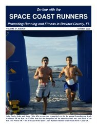 October - Space Coast Runners