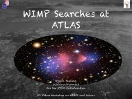 jet plus missing Et with ATLAS - 8th Patras Workshop on Axions ...