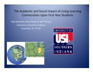 The Academic and Social Impact of Living-Learning Communities ...