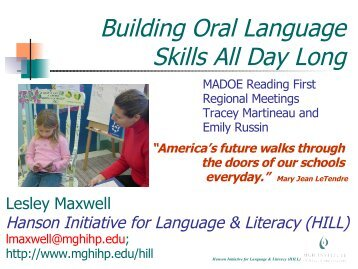 Oral language building pictures teen girl