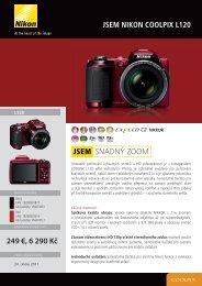 Produktový leták - Nikon