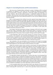 Chapter 8. Concluding Remarks and Recommendations - Regional ...