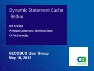 Dynamic Statement Cache in a Nutshell - neodbug