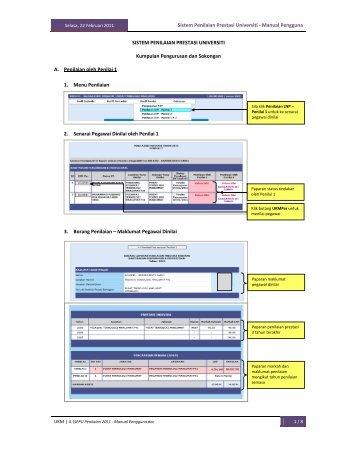 Sistem Penilaian Prestasi Universiti - Manual ... - Sistem e-Warga