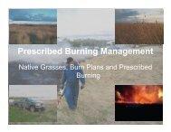 Prescribed Burning Management - Saskatchewan Prairie ...