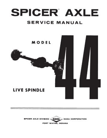 service manual: 44 live spindle 12