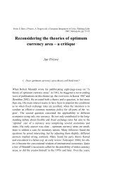 Reconsidering the theories of optimum currency area – a critique ...
