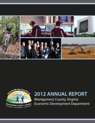2012 Annual Report - Montgomery County Economic Development