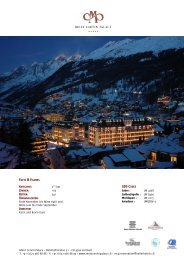 FACTS & FIGURES GDS CODES - Seiler Hotels Zermatt