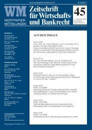 Titel_Recht 45 - WM Wirtschafts- und Bankrecht