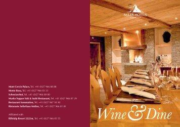 Weitere Informationen - Seiler Hotels Zermatt