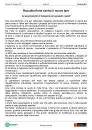 Raccolta firme contro il nuovo iper - Confesercenti Modena