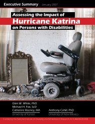 Assessing the Impact of Hurricane Katrina on Persons