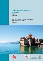 Lettre de la Délégation Wallonie-Bruxelles à Genève - n°15 - WBI