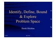 Identify, Define, Bound & Explore Problem Space - Systems World