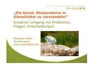 Präsentation - Die Kunst Stolpersteine in Glanzlichter zu verwandeln ...