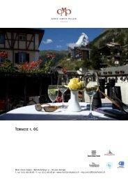 Terrasse 1.OG - Seiler Hotels Zermatt