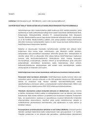 erillisessä tiedotteessa - Etelä-Pohjanmaan liitto