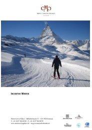 INCENTIVE WINTER - Seiler  Hotels Zermatt