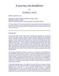 A Journey into Buddhism - Buddhist Publication Society