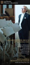 Abo-Folder 2013/14 - Wiener Akademie