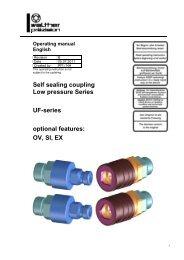 Low pressure coupling, series UF, Rev-B - Carl Kurt Walther GmbH ...