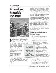 Hazardous Materials Incidents - Network of Care