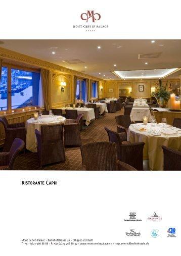 RISTORANTE CAPRI - Seiler Hotels Zermatt