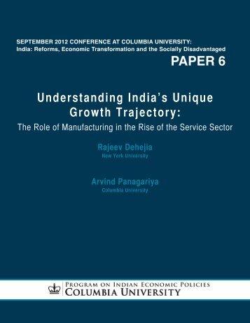 paper 6 - Program on Indian Economic Policies - Columbia University