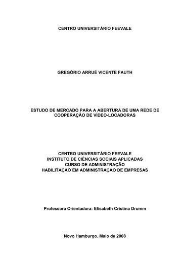 gregório arrué vicente fauth - Talento Universitario
