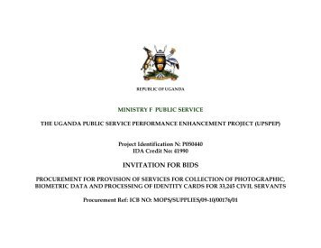 Latest Bid - Ministry of Public Service
