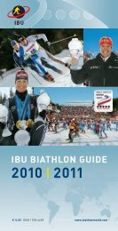 IBU Media Guide - International Biathlon Union