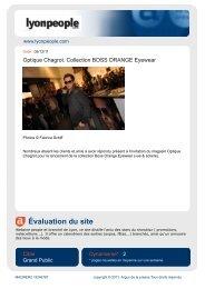 Évaluation du site - Serge Magner