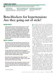 Beta-blockers for hypertension: Are they going out of style?