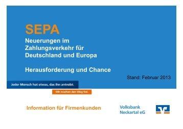 SEPA-Firmen-Lastschrift - Volksbank Neckartal eG