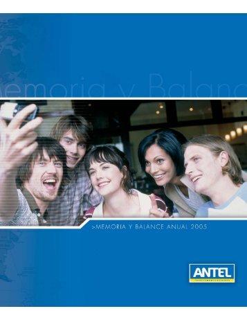 Memoria Anual 2005 (.pdf 2.8Mb) - Antel