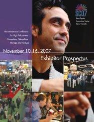 to view the Exhibitor Prospectus - SC07