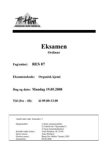 RES 07 - Organisk kjemi - 19052008