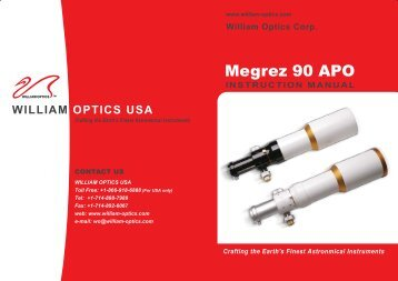 Megrez 90 APO 8 Pages (2.25 MB) - William Optics