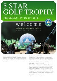 5 Star Golf trophy - Seiler Hotels Zermatt