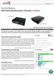 NETASQ Multifunction Firewall U Series - C-MI Labs