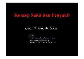 IKM4-Konsep Sakit - Suyatno, Ir., MKes - Undip