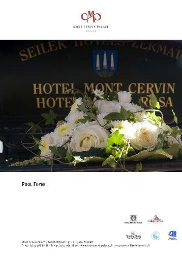 Pool Foyer - Seiler Hotels Zermatt