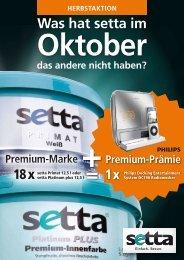 Was hat setta im Oktober das andere nicht  haben? Premium-Marke ...
