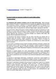 articolo di Norberto Bottani - CISL Scuola