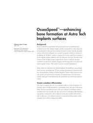 enhancing bone formation at Astra Tech Implants surfaces